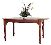 oval cherry dining table