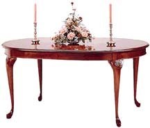 cherry dining tables oval bent rim